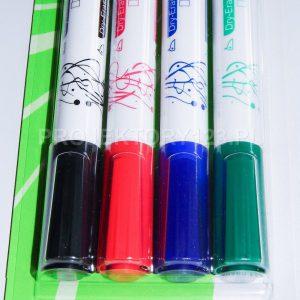 PROJEKTORY123 - markery do tablic suchościeralnych, flipchartów, opakowanie 4 sztuki, kolory