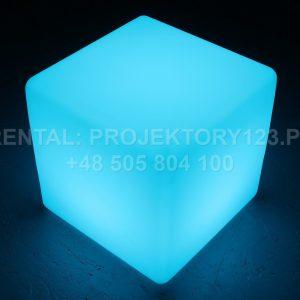PROJEKTORY123 - wynajem kostki LED Cube 40cm - blue