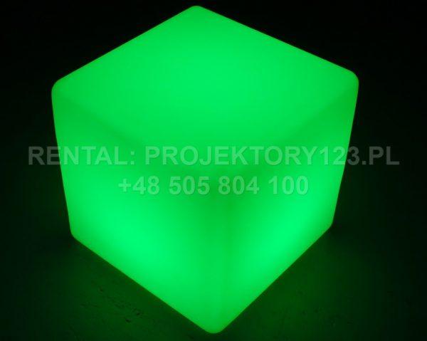 PROJEKTORY123 - wynajem kostki LED Cube 40cm - green