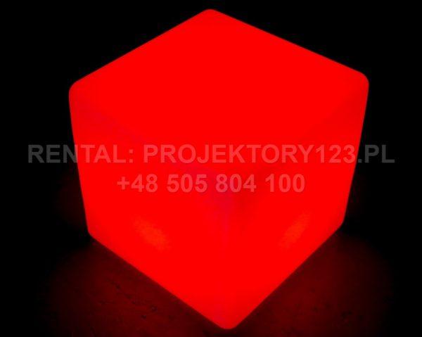 PROJEKTORY123 - wynajem kostki LED Cube 40cm - red