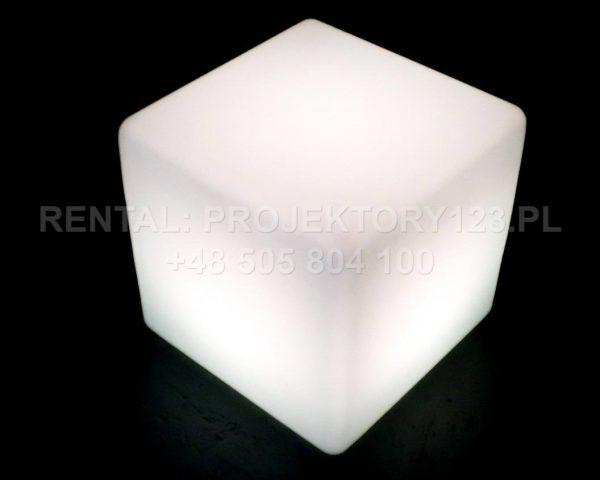 PROJEKTORY123 - wynajem kostki LED Cube 40cm - white