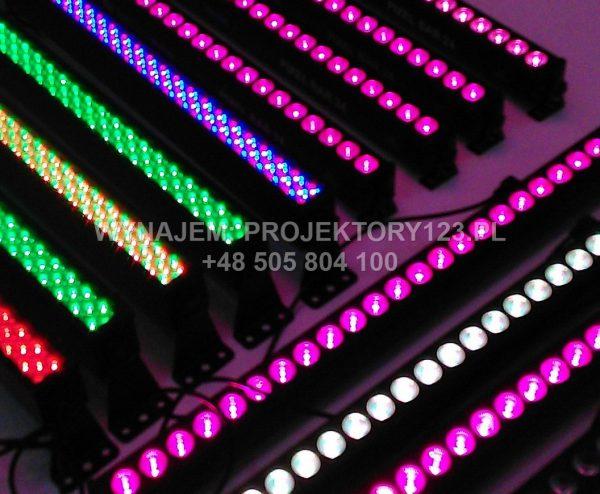 Wynajem listwy LED, led bar