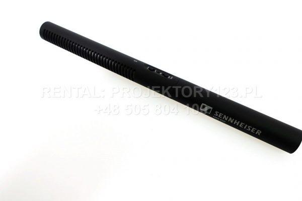 PROJEKTORY123.PL - wynajem mikrofon typu shotgun Sennheiser MKE-600 do kamery