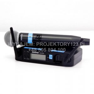 Wynajem cyfrowego mikrofonu bezprzewodowego do reki SHURE