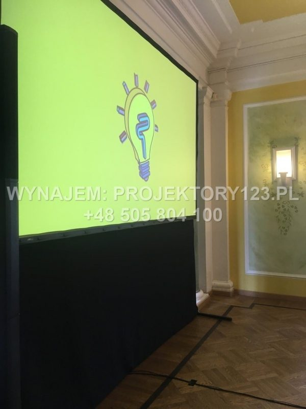 Wynajem projektora Full HD dużej jasności 5000 ANSI - przykład uzycia, tylna projekcja